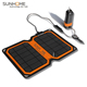 Solar car battery trickle charger