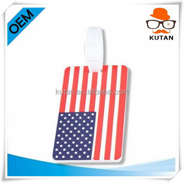 Updated branded customer design pvc luggage tag