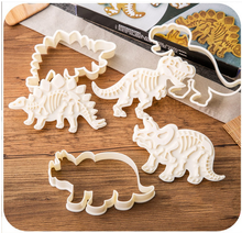 Set of 3-pieces Baking Cookie Cutters Cake Decoration Dinosaur Skeleton Fossil Dinosaur Fossil Cookie Making Molds Stamps
