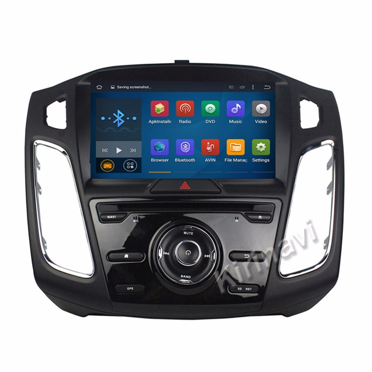 "Kirinavi android 5.1 8"" car navigation dvd player for ford for focus 2015 2016 radio mp3 with gps TV bluetooth 4 core"