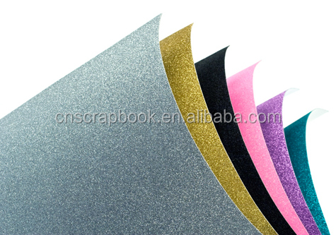paperboard glitter paper cards for kids craft glitter cardstock factory