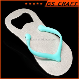 wholesale good quality attractive flip flops stainless steel bottle opener