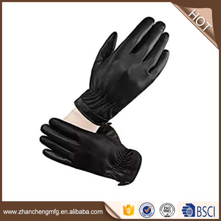 Professional fashio goat skin leather gloves with high quality