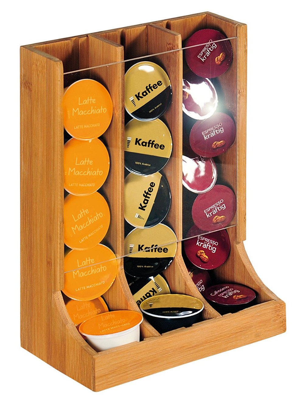 newest bamboo k cup dispenser coffee pod storage drawer 5