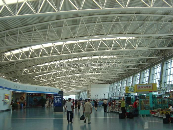 Professional Design Steel Space Frame Structure Airport Hall Roofing