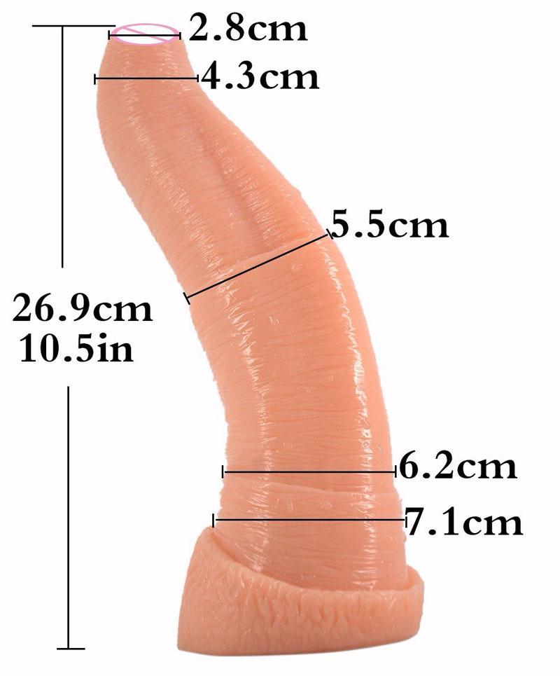 Thick Huge Dildo Big Animal Penis Elephant Snout Dick Anal SexToy for Unisex Adult Woman Masturbate Couples Flirting Erotic