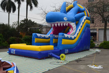 shark inflatable slide with pool, shark inflatable playland