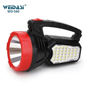 rechargeable high power led search light solar handheld searchlight for custom oem