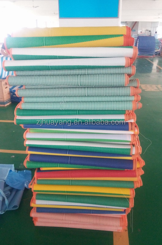 HUAYANG Different colors stripes mat in Stock beach mat