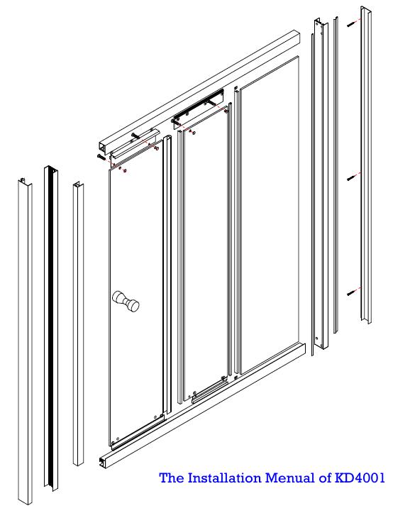 3 Panel Tempered Glass Shower Sliding Glass Door(KD4001)