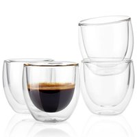 BLJOE05 Heat Resistant Double Wall Glass Coffee Mug Espresso Cup 4oz / Tea Mug