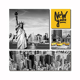 black yellow New York canvas wall art USA cab 5 multi panel wall canvas painting