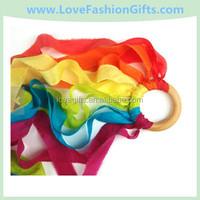 Waldorf PLAY SILK Kite, Dancing Ribbon Streamer Rainbow Whirligig Toy