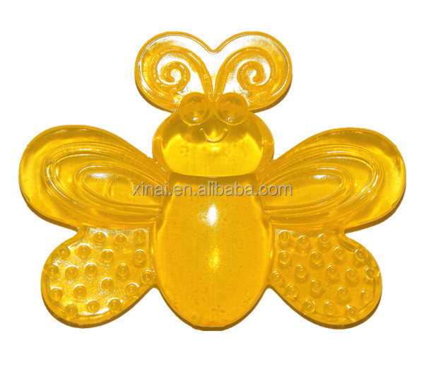 Bee shape EVA baby water teether,water teether manufatcory