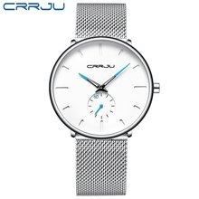 Relogio masculino Crrju часы мужские военные кварцевые часы мужские часы Топ бренд класса люкс нержавеющая сталь спортивные наручные часы(Китай)
