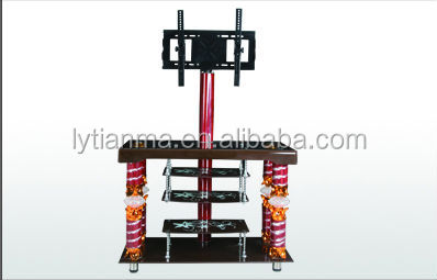 lcd tv exhibition stand led display cabinet