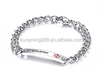 New Design Stainless Steel Chains Customized Message Bracelets And Bangles Fashion Jewelry