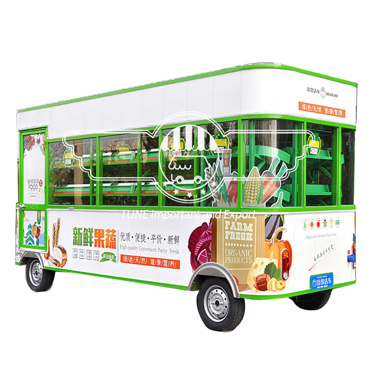 New design electric power supply street view food cart/electric hot dog street food trailer/outdoor vending cart