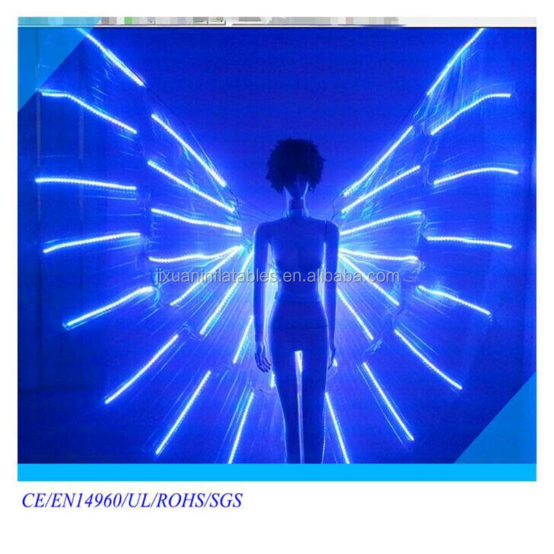 Illuminated LED butterfly dress/stage costume/luminous costume/ lighted LED wings / Shining dress