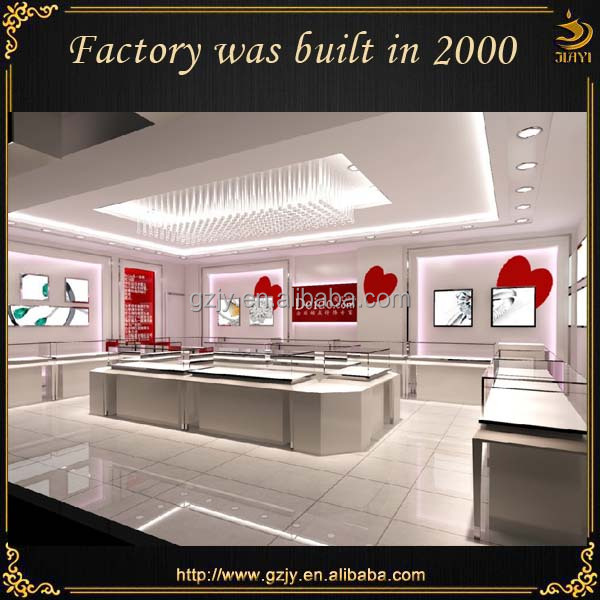 High end modern fashion jewelry shop interior design, interior ...