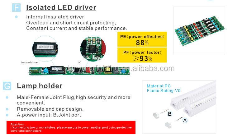 Ac100 - 277v Led Tube Light Circuit Diagram T8 22w Led Commercial ...