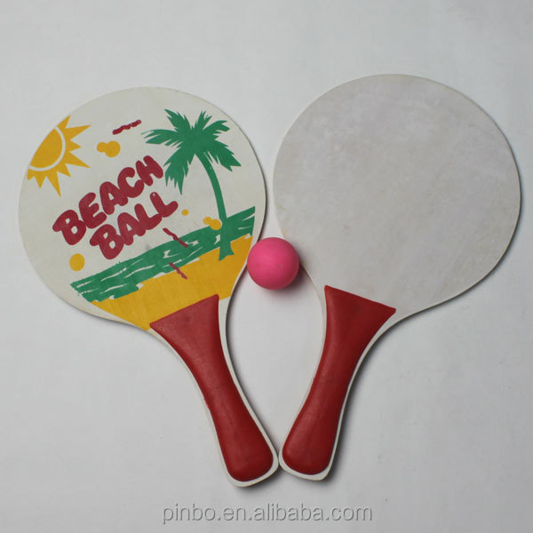 Wooden Paddle Ball Game Wooden Beach Bat And Ball Set For Outdoor Sports Buy Beach Bat 25