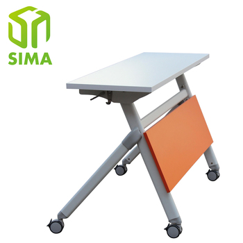 Small Metal Movable Folding Computer Table Bracket With Fold Out Top