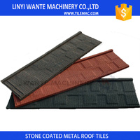 Roofing shingles tiles with 0.4mm galvalume steel and weather resistance nature color ceramic sand
