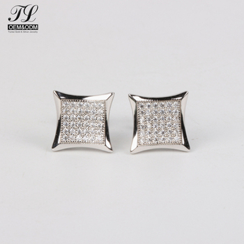 High quality fashion gents bling gold earrings sale online+artificial jewellery sites