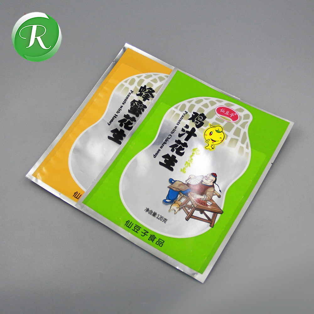 Food grade printed resealable peanuts butter packaging plastic bag