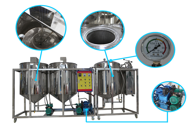 small scale hydrogenated crude palm oil refining machinery
