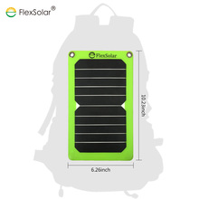 Flexible 5W Solar Panel Charger manufacturer Waterproof Solar Power Bank Charger for Phone and Outdoor Electronics