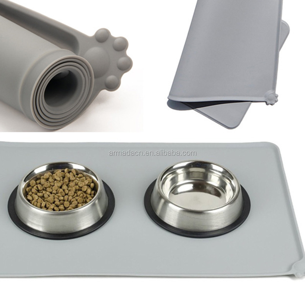 Food grade silicone anti-slip Silicone Dog Feeding Placemat
