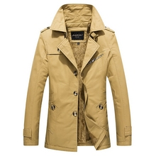 040M1307 OEM ODM High Quality Fashion Male Long Hoodie Jacket Overcoat Slim Fit Warm Winter Coat Man