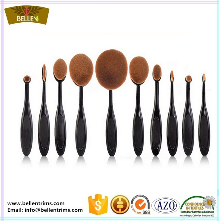 Best Hot Sale Oval Toothbrush Makeup 10 Piece Makeup Brush