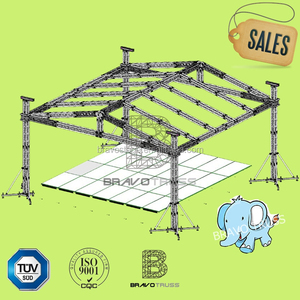 Exhibition Designs Line Array Speakers Lighting Tower Truss Stage Lowe Roof Truss Tower Truss System