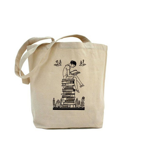 City Name Printed Canvas Tote Bag, City Name Printed Canvas Tote ...