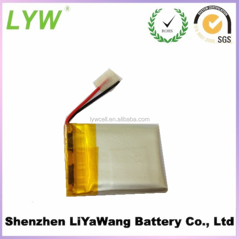 Low capacity li ion polymer battery 3.7v 150mah size 402025