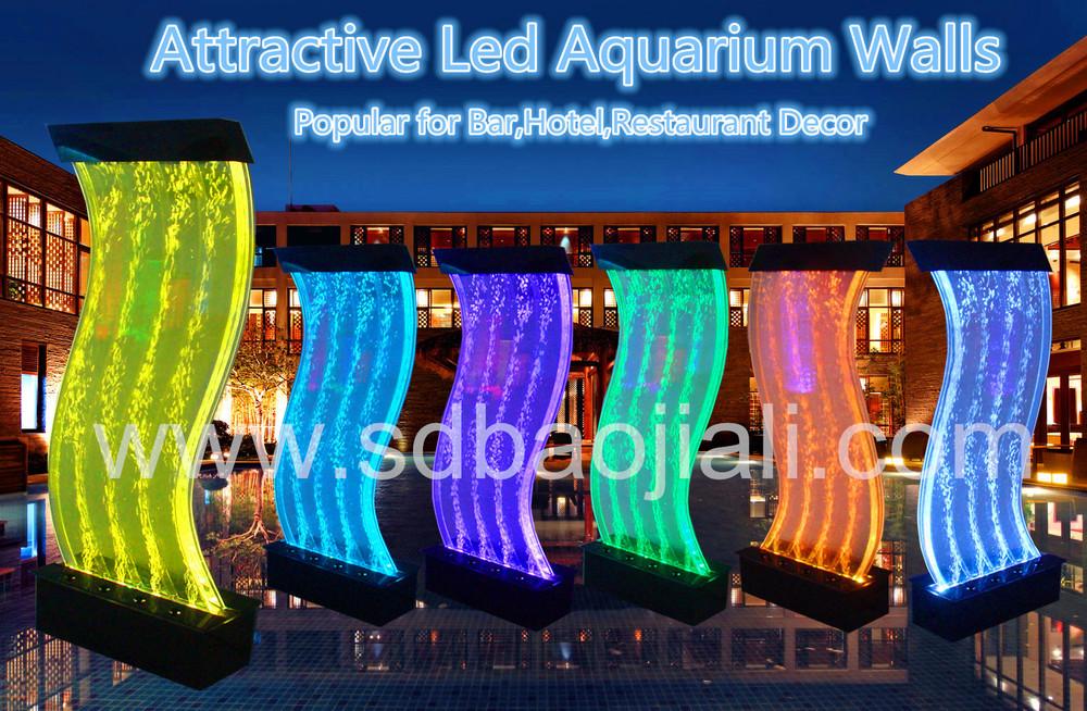 S Shape Led Aquarium Home Decoration Indoor Waterfall