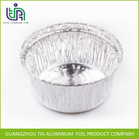 hot selling 0.05mm thickness round disposable 8011 aluminum foil bowl