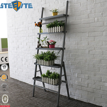 Moda Durável 5 Tier Flower Shop Display Rack Metal Estande de Plantas Em Camadas Interior