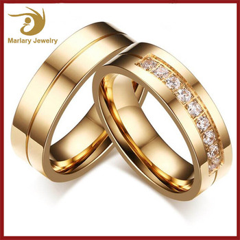 Ally Express Cheap Engagement And Wedding Ring Set New Gold Finger