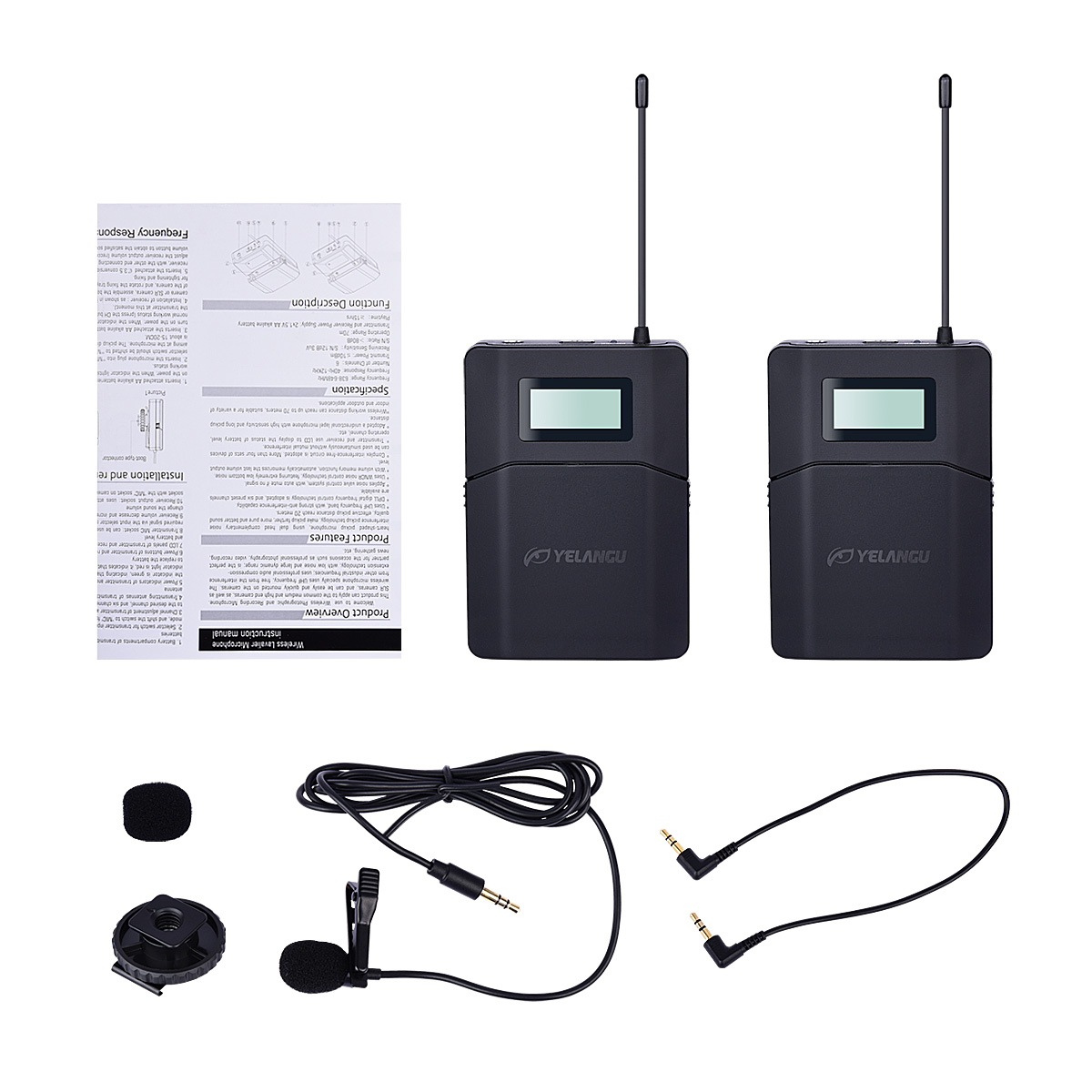 YELANGU Mini Mobile Phone Interview Professional Wireless Microphone