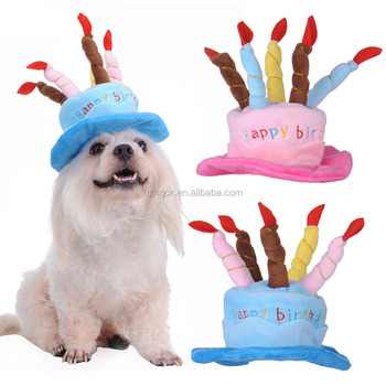 Birthday Cake Caps Pet Hat For Dogs Cats Wonderful Gift Dog Hats A With Candles