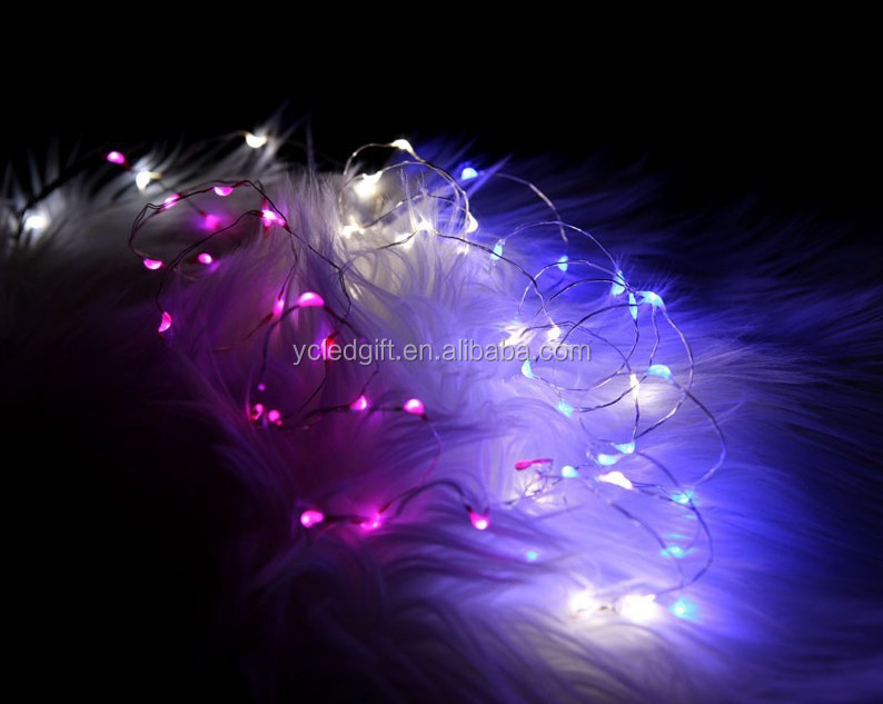 Cr2032 Micro Mini Led Lights For Clothing,Silver Wire Battery ...
