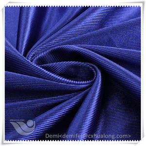 Reliable quality polyester warp knitting fabric mercerized plain tricot cloth for sportswear and home textile material