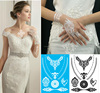 Fashion Wedding Elegant Ladies White and Black Lace Temporary Tattoo Sticker Non-toxic Tattoos 6#