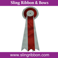 Wholesale Two Layer White and Red Center Stage Awards
