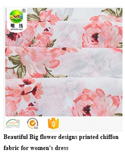 Shaoxing high quality polyester paper printing peach skin jorjet fabric
