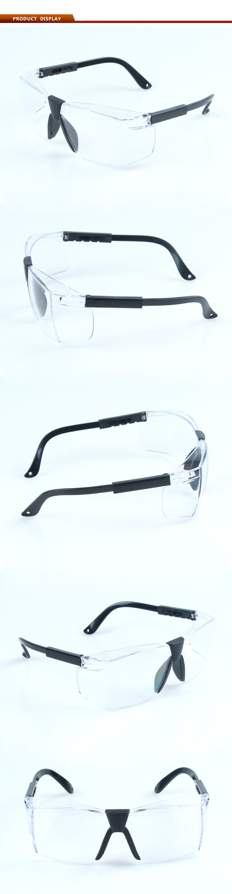Custom saftey protective goggle with CE and ANSI Standard lab eye goggles